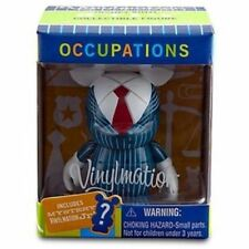 """DISNEY OCCUPATIONS 3"""" VINYLMATION+CARD+MYSTERY 1.5""""JR BUSINESS MANAGER SET NEW"""