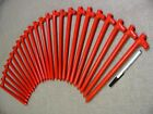 """Monk Industries 24 pack of 5/8""""x12"""" Orange Steel Stakes. Heavy duty Made in USA"""