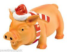 Good boy Festive Xmas Christmas Large Big Latex Pig Dog Toy Grunting Animal