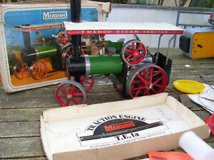 Mamod Steam Tractor Dampfmaschine Walze Blechspielzeug mit Zubehör in OVP rar