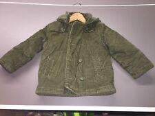 Gymboree Corduroy Jacket Size S 5-6 Olive Green Pockets Hood Winter / Fall