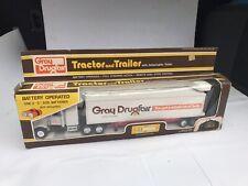 "Big 18"" GRAY DRUGFAIR REMOTE CONTROL TRACTOR TRAILER TRUCK Unused MINT IN BOX"