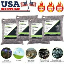 4 Pack Nature Fresh Air Purifier Bag Charcoal Bamboo Purifying Mold Odor 200g US