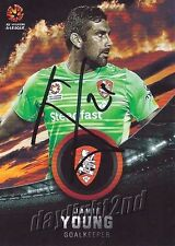 ✺Signed✺ 2016 2017 BRISBANE ROAR A-League Card JAMIE YOUNG