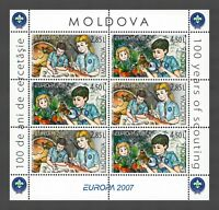 """Moldova 2007 CEPT Europa """"Scouting"""" 6 MNH stamps Booklet"""