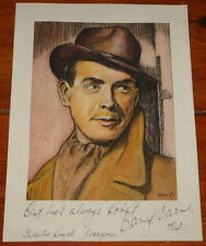 BARRY K BARNES ~ BEAUTIFUL ORIGINAL DRAWING SKETCH ARTWORK ~ SIGNED CIRCA 1940