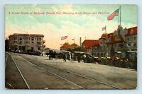 Redondo Beach, CA - EARLY 1900s STREET SCENE & OLD CARS - CURIO STORE POSTCARD