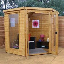 7 x 7ft GARDEN SUMMERHOUSE TONGUE & GROOVE CLAD CORNER SUMMER HOUSE NEW UN USED