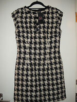 Amy Winehouse Fred Perry Houndstooth Tie Neck Dress Size 12 BNWITHOUTTAG Rare