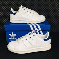 *NEW* Adidas Stan Smith C Little Kid Boys Sizes Athletic Sneakers White Blue