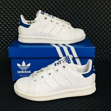 Adidas Stan Smith C Little Kid Boys Sizes Athletic Sneakers White Blue Shoes