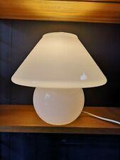 Vintage Habitat Terence Conran White Glass Large Mushroom Table Lamp