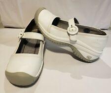 KEEN PTC Women's White Leather Non-Slip Mary Jane Nursing Shoes Sz US 7