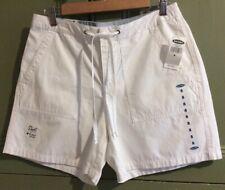 "Old Navy Womens Uk12 Us8 32"" New White Cotton Shorts Summer Holiday Pockets"