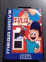 Megadrive Genesis Fix It Felix Jr Free Region Boxed Video Game Cart