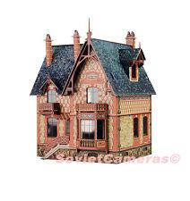1/87 HO Scale Building Villa Chateau Railway Railroad 3D Cardboard Model Kit