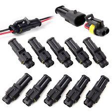 10pz 2 Vie Pin Connettore A Spina Impermeabile Sigillato Per Fili Elettrici Auto