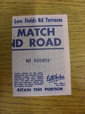 03/05/1980 Ticket: Leeds United v Manchester United [The Date Is Not Printed But