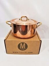 Mauviel France M150B 1.5mm Copper 5.5 Quart Round Stock Pot Bronze Handles NEW
