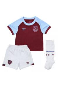 Umbro West Ham United Kids Home Kit 2020/21 Age 6-7 Years BNWT RRP £45