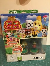 Nintendo WiiU Animal Crossing amiibo Festival + 2 Figuren 3 Karten WiiU VER F0TO