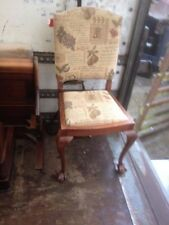 Mahogany Victorian Style Chairs with 1 Pieces