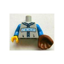 LEGO - Minifig, Torso Baseball Jersey w/ 'STACKERS' Logo & Baseball Glove
