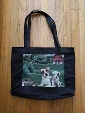 Large waterproof purse tote handbag book bag Jack Russell Parsons terrier dog