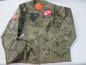 Womens Medium Kansas City Chiefs Nike Salute To Service Bomber Style Jacket NWT