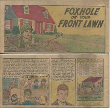 FOXHOLE ON YOUR FRONT LAWN 1954 US TREASURY DEPT GIVEAWAY PROMO MINI COMIC RARE