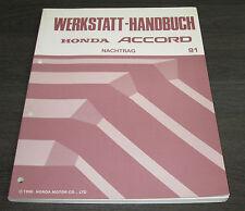 Werkstatthandbuch Honda Accord 4.Generation ab Baujahr 1991 Reparaturanleitung