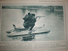 Photo article France French army test hydro-ski as sniper aid 1916