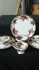 Old gold fine bone china made in Japan, hand painted, vintage