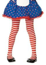 Red and White Striped XL 11 - 13 Girls Stockings Tights