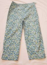Talbots Kids Girls Pants white with blue and green flowers size 8