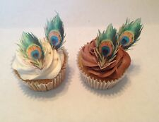 Edible Peacock Feather Cupcake / Cake Accents