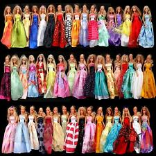 Random Pick Lot 6 Princess Dresses Clothes Gown For Barbie Dolls Girl gift B00
