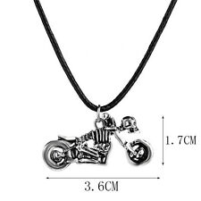 Stainless Steel motorcycle skull Pendant Silver Necklace man woman Jewelry BC41