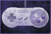 Nintendo SNES Controller Video Gaming Poster 36x24 inch