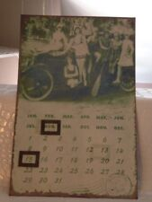 Retro Tin Shabby Chic Metal Wall Plague Calender Metal Postcard Sign