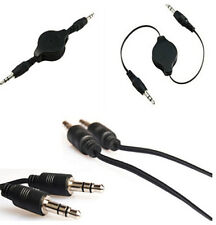 3.5mm Cable Sell Black Aux Retractable Auxiliary Cord For iPod Car MP3 one HS19