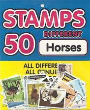 HORSES Hang Sell  PACKET 50 Different WORLD Stamps - WHOLESALE LOT of 10 Packets