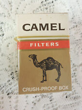 Vintage Camel Filters Cigarette Pack EMPTY Display Only Hard Crush Proof Box