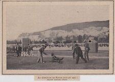 1907  --  ROUEN  CONCOURS DE CHIENS GENDARMES   3K093
