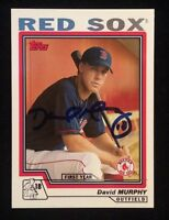 DAVID MURPHY 2003 TOPPS ROOKIE RC Autographed Signed AUTO Baseball Card 303 SOX