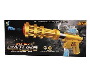 Super Gatling Crystal BB Bullet 20m Shoot Toy Gun With 1000 Bullets Outdoor Game