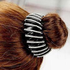 Haarklammer Haargreifer mit Strass Haarspange Pferdeschwanz Dut Rund
