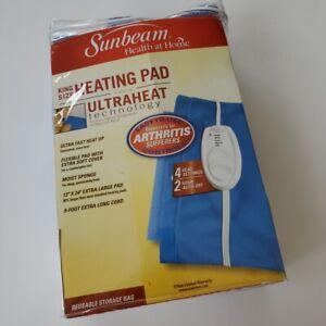 Sunbeam King Size heating pad Ultraheat Technology 4 heat 9 ft power cord