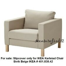 Ikea COVER for Karlstad Chair Karlstad Armchair SLIPCOVER Sivik Beige 401.838.42