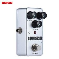 KOKKO FCP2 Mini Compressor Pedal Portable Guitar Effect Pedal White G4U9